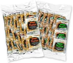 JAL ドライなっとう 一味唐がらし味 10g×20包(200g) + 梅風味 10g×20包(200g) [JALUX ジャルックス]【納豆 一味唐辛子 梅 うめ ウメ 菓子 JAL SELECTION】