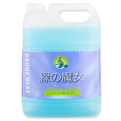 緑の魔女 トイレ (トイレ用洗剤) 5L 業務用 ミントの香り [ミマスクリーンケア]【トイレ掃除 液体洗剤 詰め替え 詰替 大容量 お徳用】《あす楽》