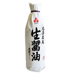 《送料無料》佐々長醸造 生醤油 濃口 1000ml 岩手名産