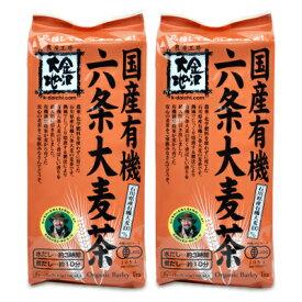 《送料無料》有機JAS 金沢大地 国産有機六条大麦茶 ティーバッグ 10g×40P × 2袋
