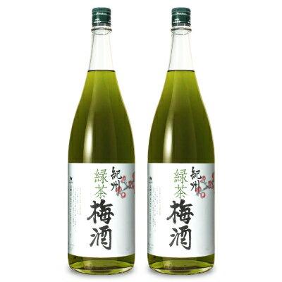 《送料無料》中野BC 緑茶梅酒 1.8L × 2本《あす楽》