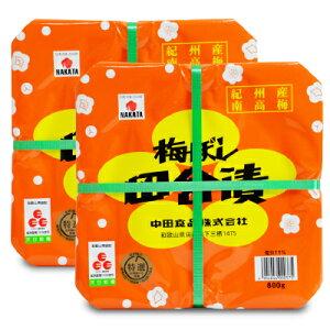 《送料無料》 中田食品 紀州梅ぼし 田舎漬 800g × 2個