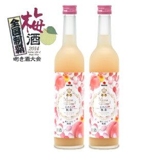 中田食品 とろこく桃姫 桃たっぷり梅酒500ml × 2本