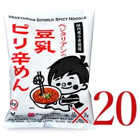 《送料無料》 ベジタリアンの豆乳ピリ辛めん 20食分セット[桜井食品]