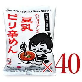 《送料無料》 ベジタリアンの豆乳ピリ辛めん 40食分セット[桜井食品]