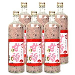 《送料無料》篠崎 国菊 黒米甘酒 900ml × 6本 ケース販売