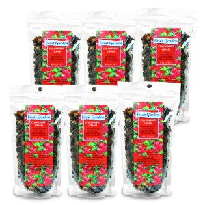 《送料無料》富永貿易 フルーツガーデン ストロベリークリーム 125g × 6個 ノンカフェイン