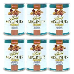《送料無料》東洋ナッツ食品 トンTON'S 食塩無添加 クラッシー ミックスナッツ缶 360g × 6個