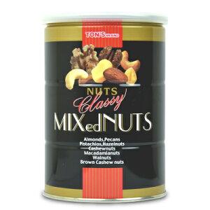 《送料無料》東洋ナッツ食品 トンTON'S クラッシー ミックスナッツ 缶 360g