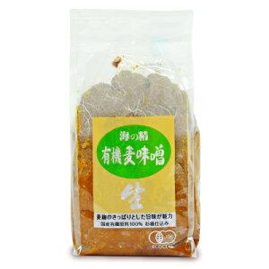 海の精 国産有機・麦味噌1kg 有機JAS