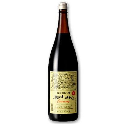 林農園 五一わいん エコノミー 赤 1.8L [赤ワイン ライトボディ]【果実酒 ワイン お酒 五一ワイン Economy 一升瓶 日本 信州 桔梗ケ原】《あす楽》