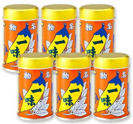 八幡屋礒五郎 一味唐がらし 缶 12g × 6本 【八幡屋 一味 一味唐辛子 カン】《あす楽》