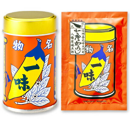 八幡屋礒五郎 一味唐がらし 12g(缶)+ 15g(袋)【八幡屋 一味 一味唐辛子 カン】《あす楽》