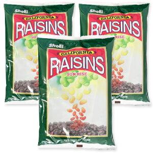 サンライズ カリフォルニアレーズン 1kg (1000g)× 3袋 [正栄食品 SUNRISE]