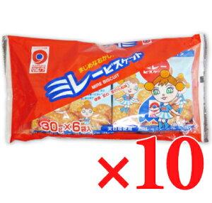 野村煎豆加工店 ミレービスケット(赤) 30g×6袋 10パック