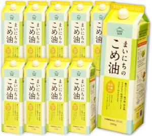 《送料無料》 まいにちのこめ油 1.5kg (1500g) × 10本 [三和油脂]【こめ油 米油 こめあぶら 米サラダ油 みづほ SANWA 国産原料】