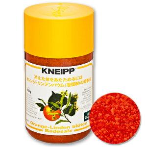 クナイプ バスソルト オレンジ・リンデンバウム(菩提樹)の香り 850g [KNEIPP]【入浴剤 入浴 バス お風呂】
