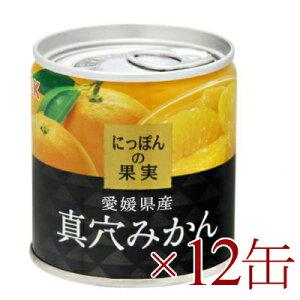 《送料無料》 にっぽんの果実 愛媛県産 真穴みかん 190g ×12缶 [K&K]【国産 まあなみかん】