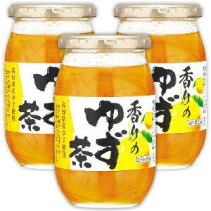 加藤美蜂園本舗 香りのゆず茶 415g × 3本