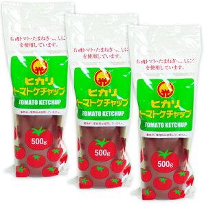ヒカリ トマトケチャップ 500g × 3個 (チューブ)[光食品]