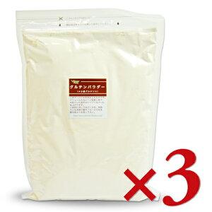 【お買い物マラソン限定!クーポン発行中】《送料無料》 グルテンパウダー 1kg × 3袋 [パイオニア企画]