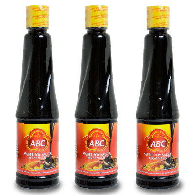 《送料無料》ABC ケチャップマニス 600ml×3本(スイートソイソース)[HALAL認証商品]《あす楽》