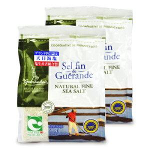 《送料無料》ゲランドの塩 セル ファン 細粒 500g × 2個