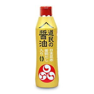 福山醸造 トモエ 道民の醤油日高昆布 450ml