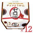 《送料無料》遠藤製餡 0カロリー チョコ ようかん 90g × 12個 ケース販売《あす楽》