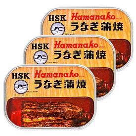 《メール便選択可》浜名湖食品 うなぎ蒲焼缶詰 100g × 3缶《あす楽》
