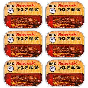 《送料無料》浜名湖食品 うなぎ蒲焼缶詰 100g × 6缶