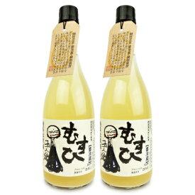 《送料無料》寺田本家 発芽玄米酒 むすひ 720ml × 2本《冷蔵便手数料無料》