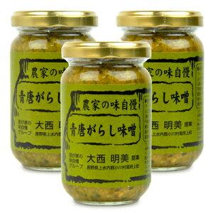 小川の庄 青唐がらし味噌 180g × 3個