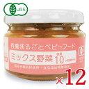 《送料無料》味千汐路 ベビー用 ミックス野菜(有機)100g × 12個 セット 有機JAS《あす楽》