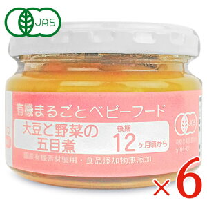味千汐路 大豆と野菜の五目煮 100g × 6個 12ヵ月頃から 有機JAS