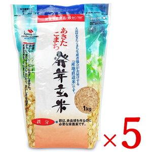 《送料無料》大潟村あきたこまち生産者協会 あきたこまち発芽玄米 鉄分 1kg × 5袋 栄養機能食品(鉄分)ケース販売
