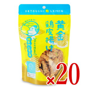 《送料無料》九州丸一食品 黄金鶏皮揚げ(瀬戸内レモン味)50g × 20袋 ケース販売