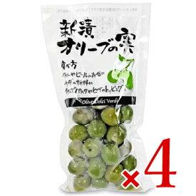 《送料無料》シェリーズ 新漬オリーブの実 種付 180g × 4袋 セット《冷蔵手数料無料》