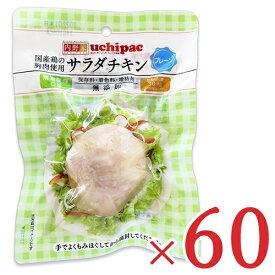 《送料無料》内野家 uchipac 国産鶏 サラダチキン プレーン 100g × 60個 セット ケース販売