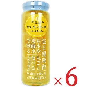 《送料無料》ヤマトフーズ 飲む生レモン酢 220g × 6個 セット