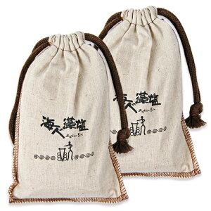 《送料無料》海人の藻塩 布袋 300g × 2袋 セット