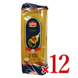 【お買い物マラソン限定!クーポン発行中】《送料無料》朝日 セルバ スパゲッティ 1kg × 12袋セット ケース販売