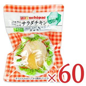 【お買い物マラソン限定!クーポン発行中】《送料無料》内野家 uchipac 国産鶏 サラダチキン 長ネギ&生姜 100g × 60個 セット ケース販売