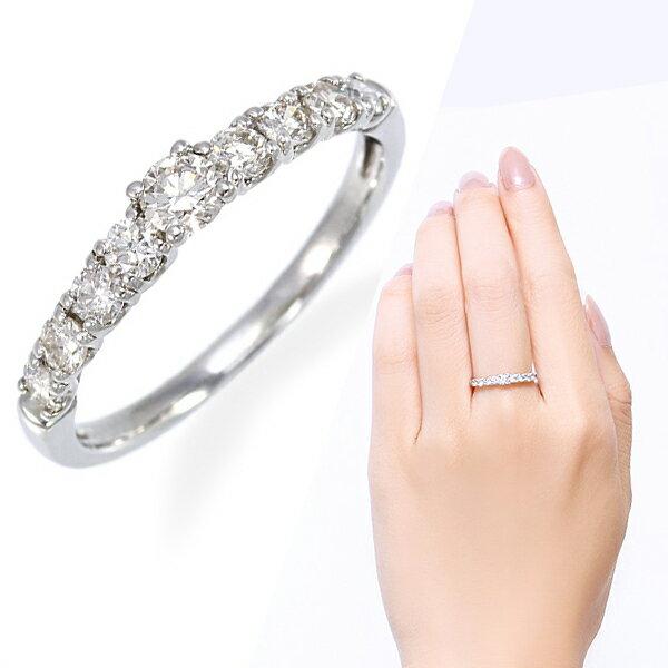ポイント10倍 〜1/22(月)9:59までプラチナダイヤモンドリング ダイヤモンド リング【0.5カラット】