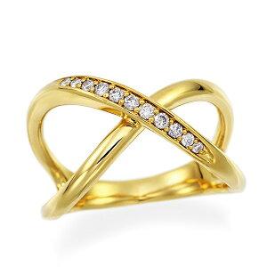 K18イエローゴールドダイヤモンドリング