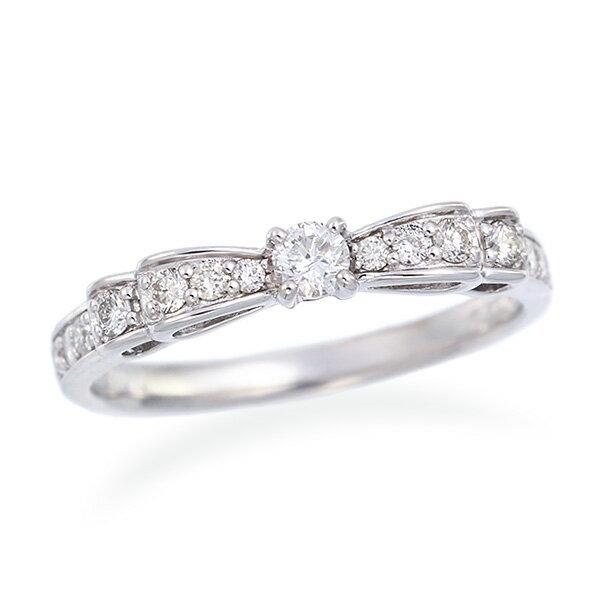 K18ホワイトゴールドダイヤモンドリング