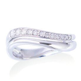 【SALE】 ポイント10倍キャンペーン中!K14ホワイトゴールドダイヤモンドリング