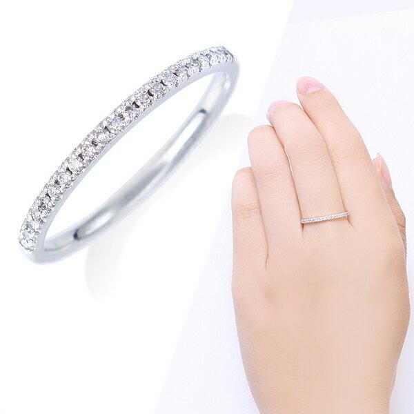 ハーフエタニティ・ダイヤモンドリング ダイヤモンド リング
