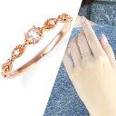 ピンクゴールドモルガナイトダイヤモンドリング ダイヤモンド リング