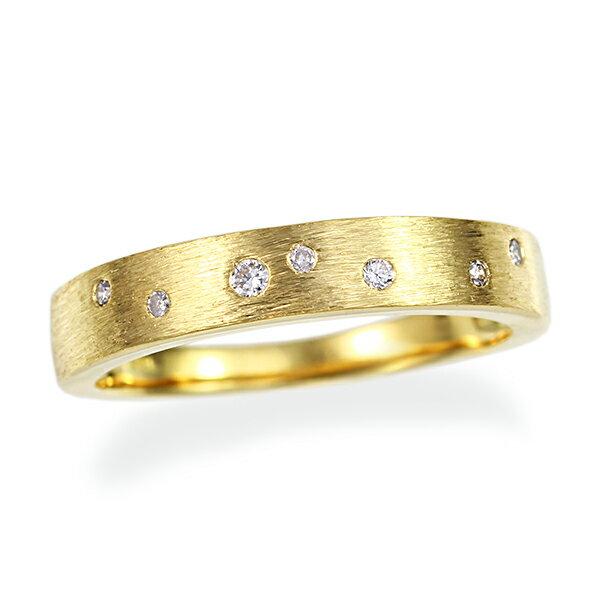 ポイント10倍 〜3/19(月)9:59まで【Pure Planets】K18イエローゴールドダイヤモンドリング